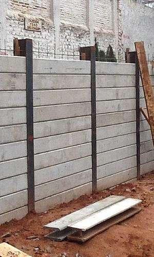 Cortina de concreto para contenção