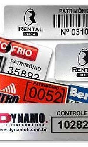 Etiquetas para identificação patrimonial