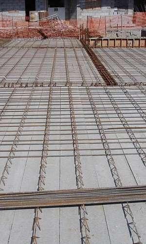 Laje maciça de concreto